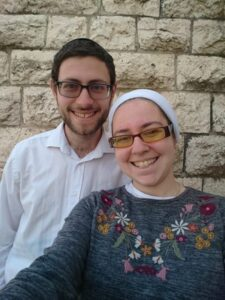 Yossi and Channah Hambling in casual attire